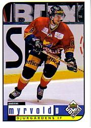 1998-99 Swedish UD Choice #54 Anders Myrvold