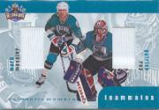 1999-00 BAP Update Teammates Jerseys #TM3 Patrick Roy/Mark Messier