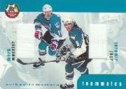 1999-00 BAP Update Teammates Jerseys #TM8 Jaromir Jagr/Mark Messier