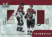 1999-00 BAP Update Teammates Jerseys #TM29 Eric Lindros/Darryl Sydor