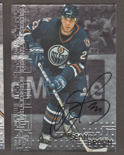 1999-00 BAP Millennium Autographs #101 Sean Brown