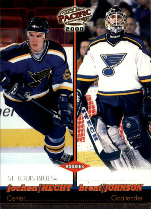 1999-00 Pacific #367 Jochen Hecht RC/Brent Johnson
