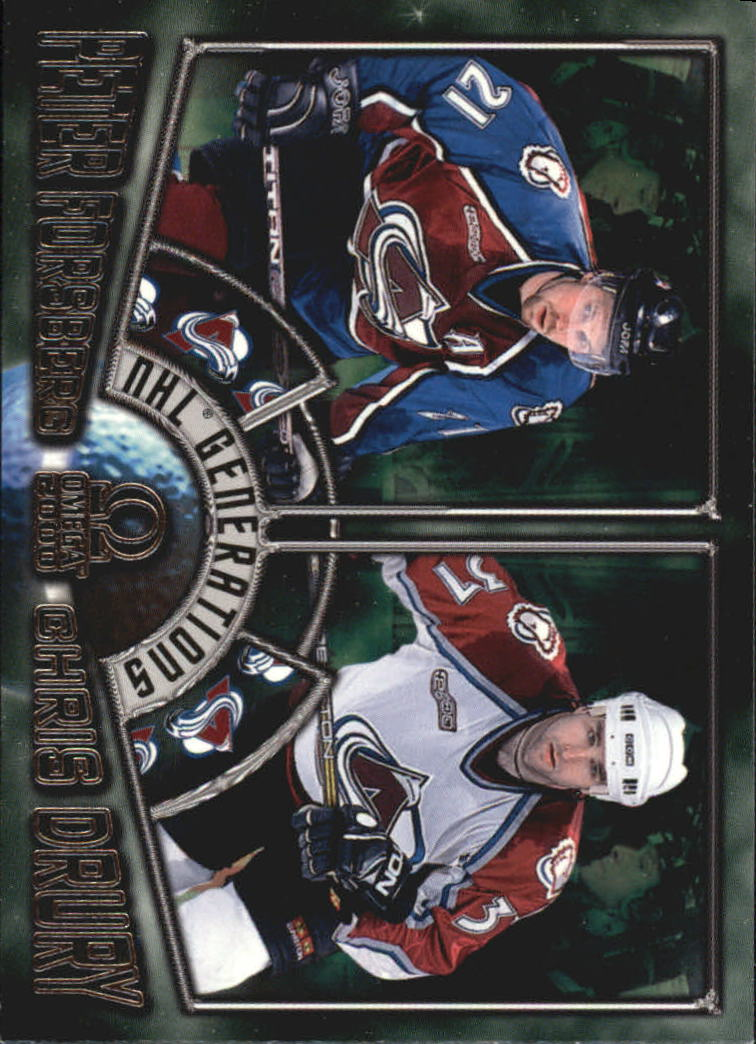 1999-00 Pacific Omega NHL Generations #3 Peter Forsberg/Chris Drury