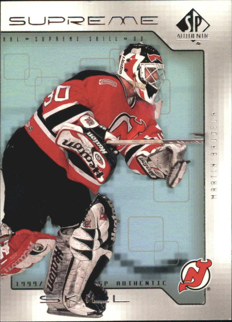 1999-00 SP Authentic Supreme Skill #SS7 Martin Brodeur