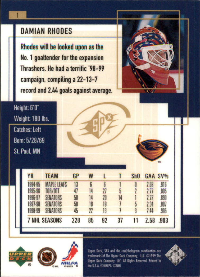 1999-00-SPx-Hockey-Cards-Pick-From-List miniature 3