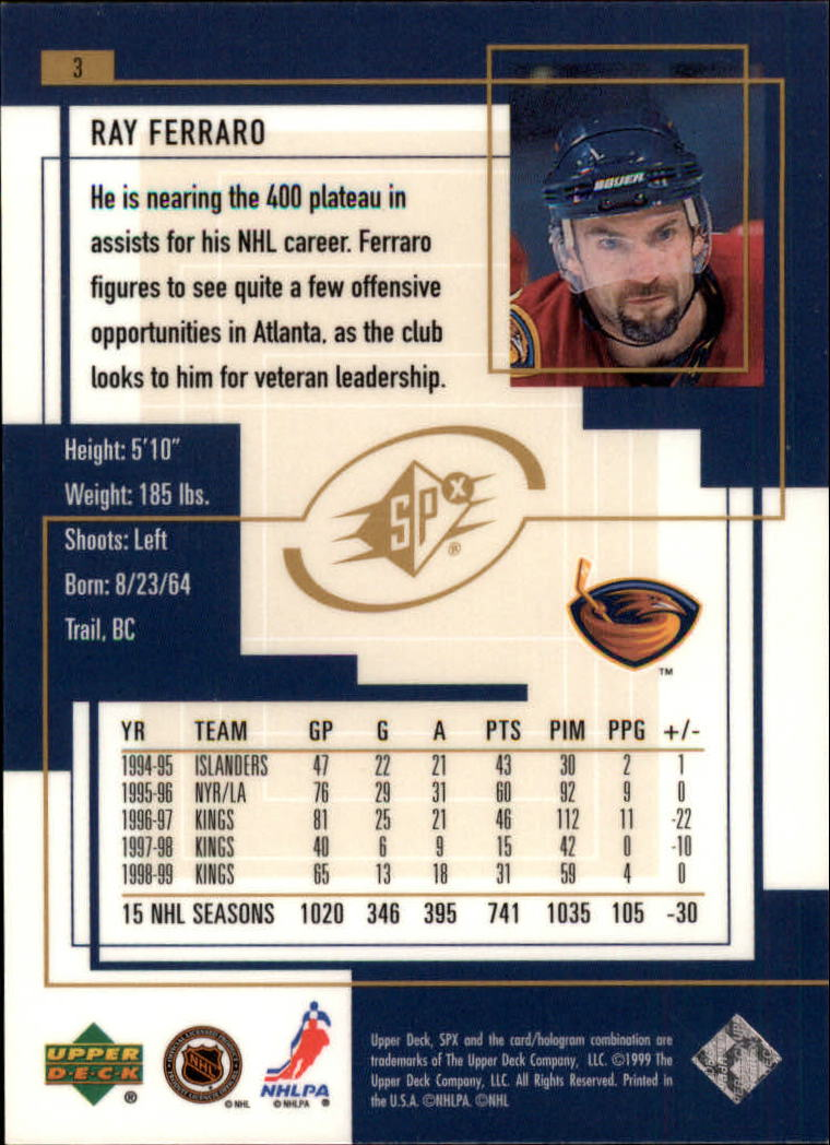 1999-00-SPx-Hockey-Cards-Pick-From-List miniature 5