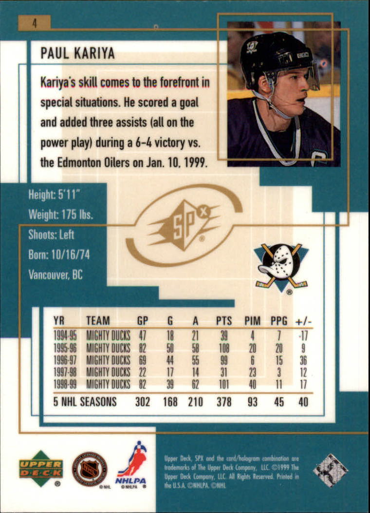 1999-00-SPx-Hockey-Cards-Pick-From-List miniature 7