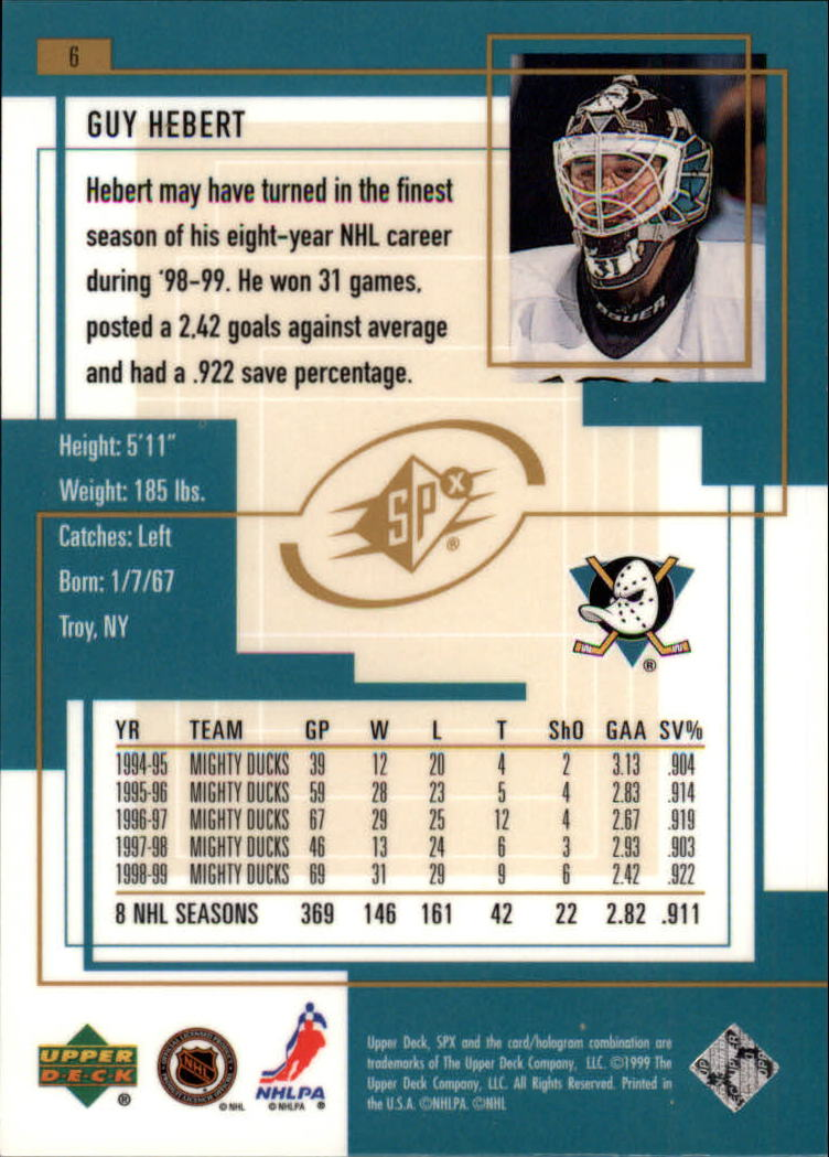 1999-00-SPx-Hockey-Cards-Pick-From-List miniature 9