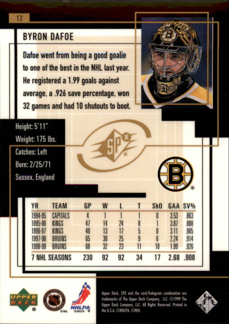 1999-00-SPx-Hockey-Cards-Pick-From-List miniature 17