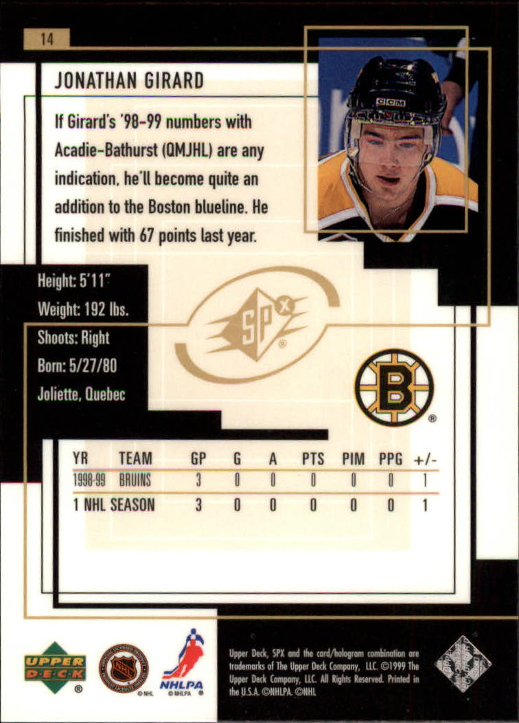 1999-00-SPx-Hockey-Cards-Pick-From-List miniature 19