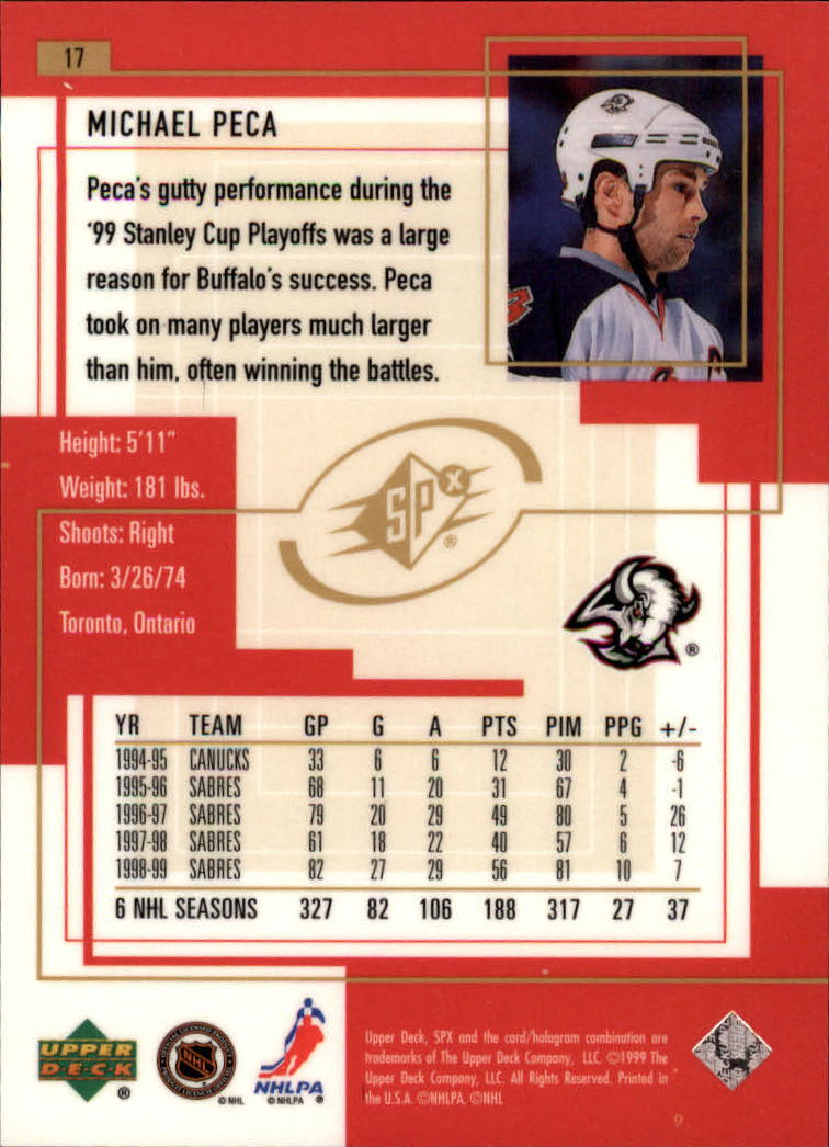 1999-00-SPx-Hockey-Cards-Pick-From-List miniature 25