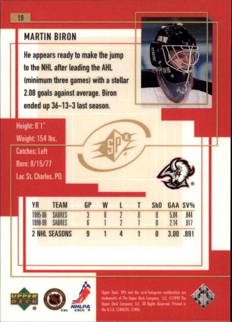 1999-00-SPx-Hockey-Cards-Pick-From-List miniature 29