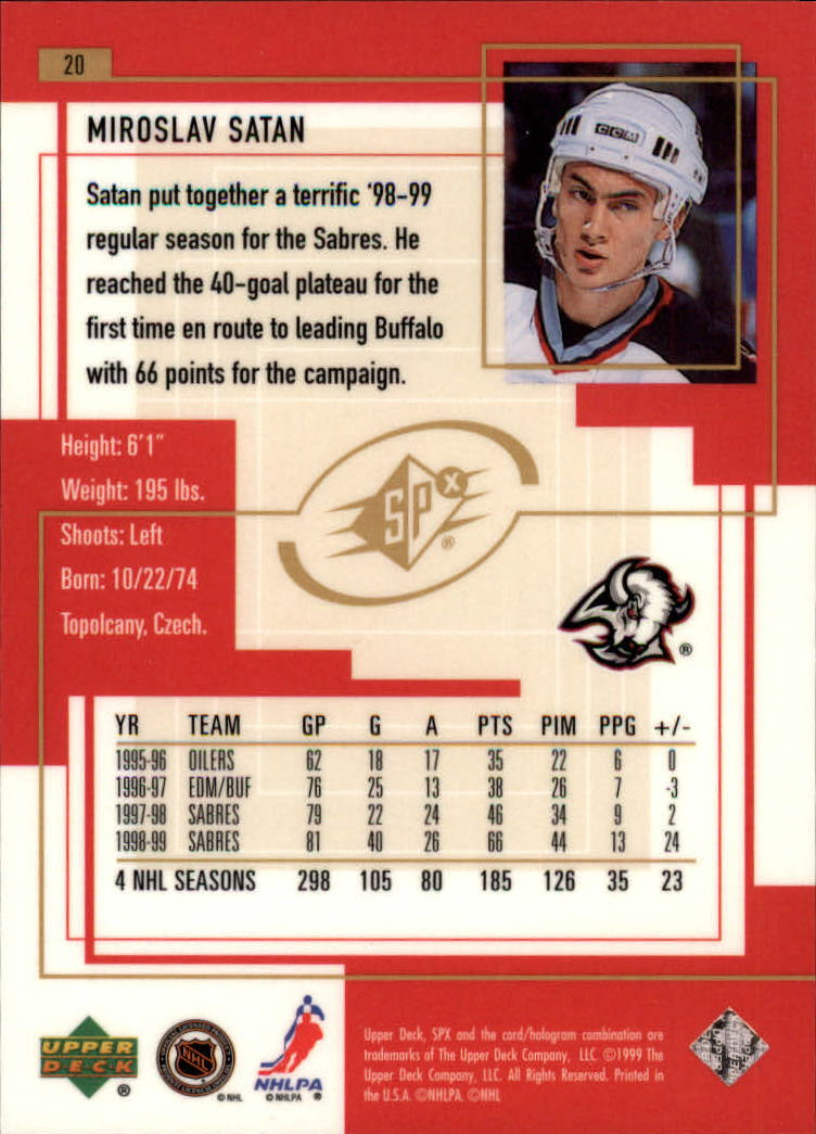 1999-00-SPx-Hockey-Cards-Pick-From-List miniature 31