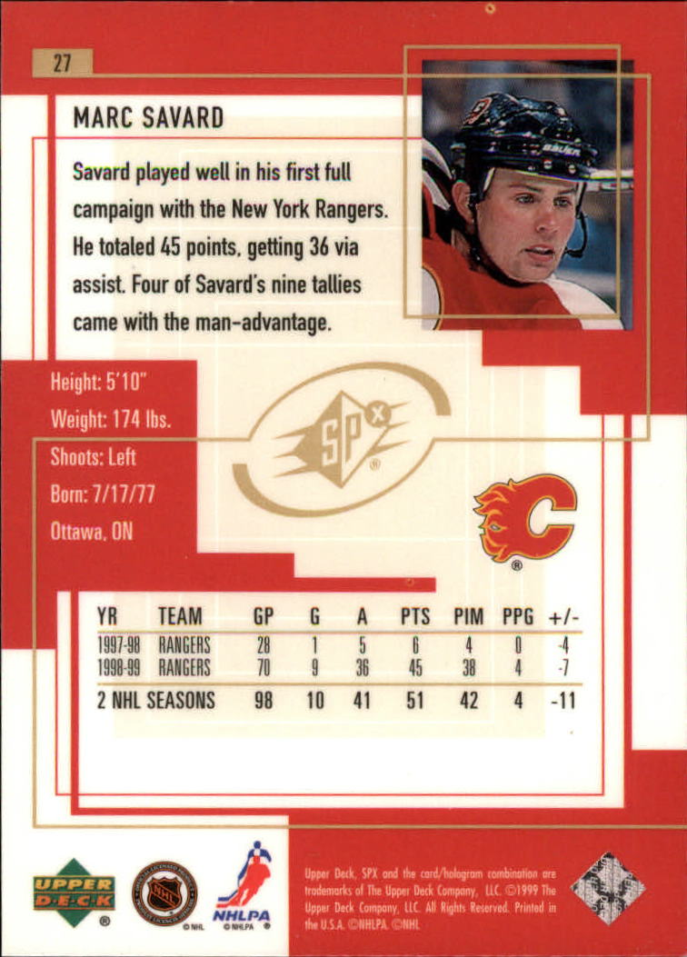 1999-00-SPx-Hockey-Cards-Pick-From-List miniature 43