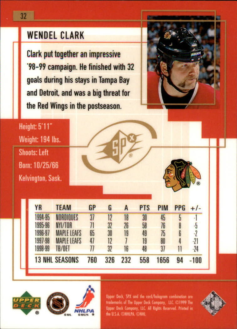 1999-00-SPx-Hockey-Cards-Pick-From-List miniature 49