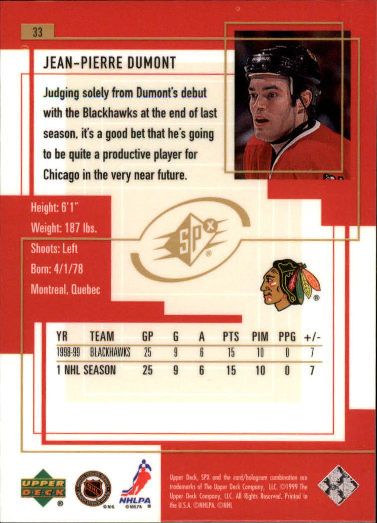 1999-00-SPx-Hockey-Cards-Pick-From-List miniature 51