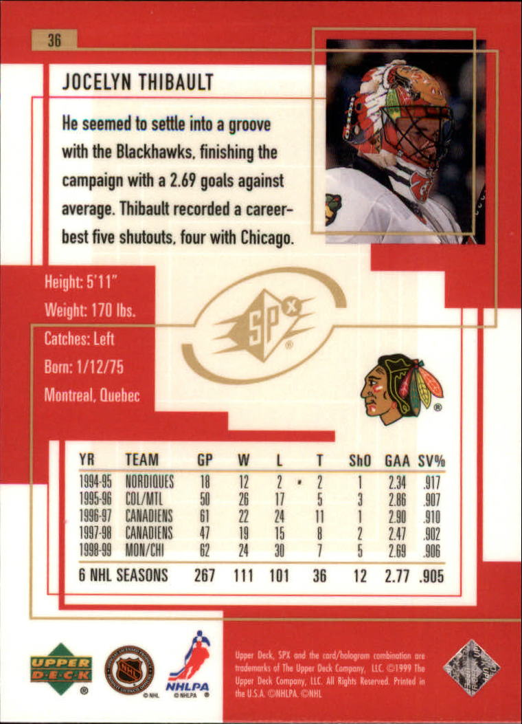 1999-00-SPx-Hockey-Cards-Pick-From-List miniature 55