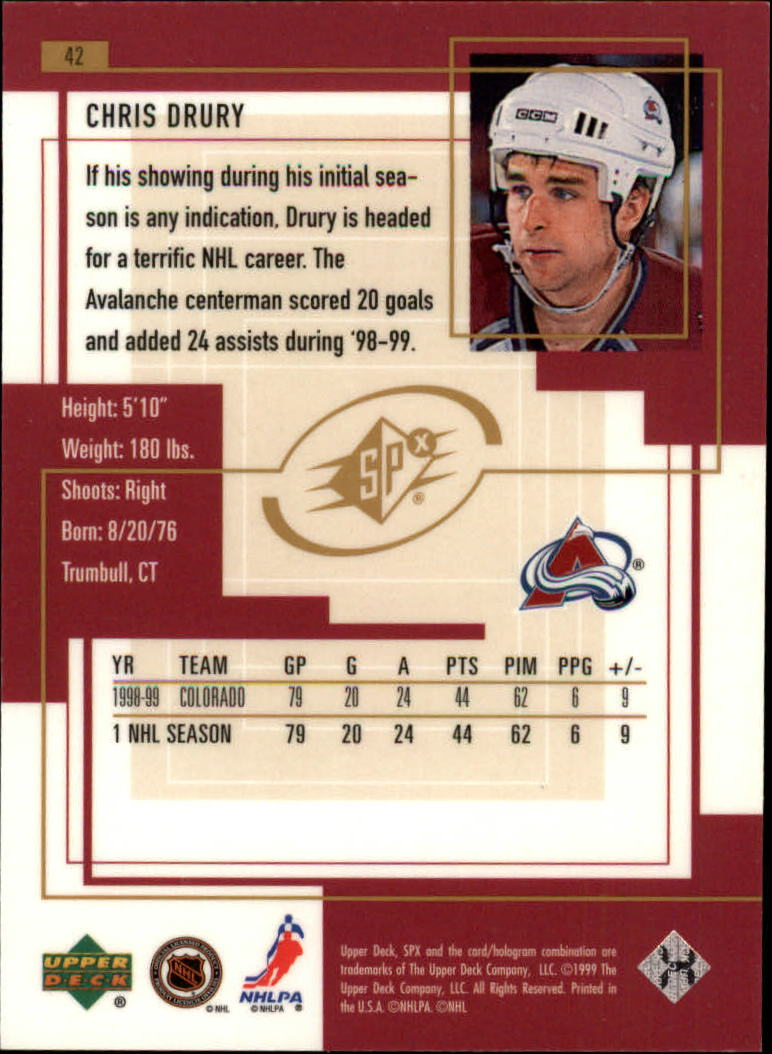 1999-00-SPx-Hockey-Cards-Pick-From-List miniature 63