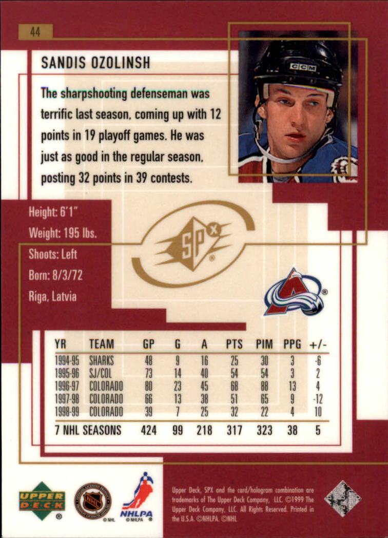 1999-00-SPx-Hockey-Cards-Pick-From-List miniature 67