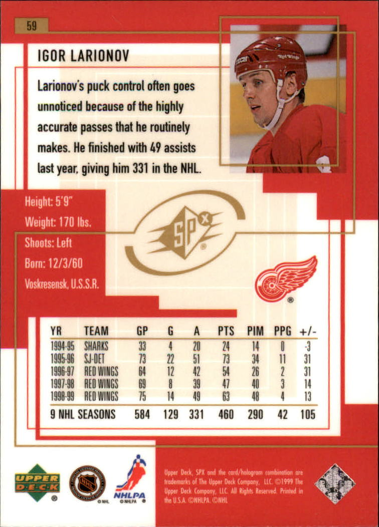 1999-00-SPx-Hockey-Cards-Pick-From-List miniature 89