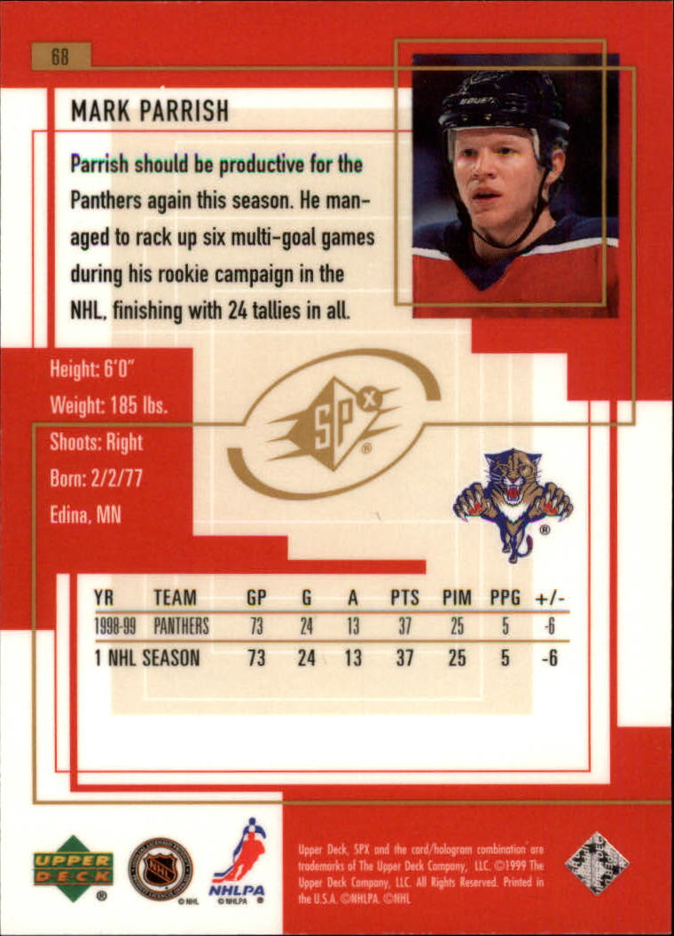 1999-00-SPx-Hockey-Cards-Pick-From-List miniature 103