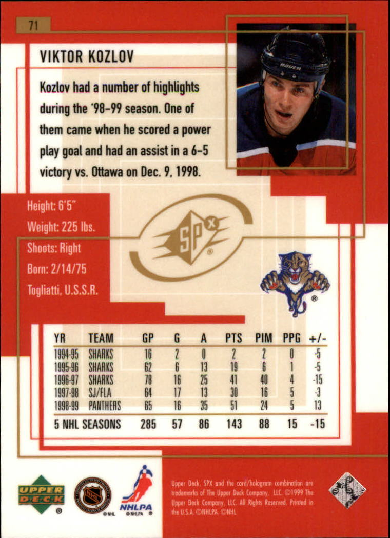 1999-00-SPx-Hockey-Cards-Pick-From-List miniature 107