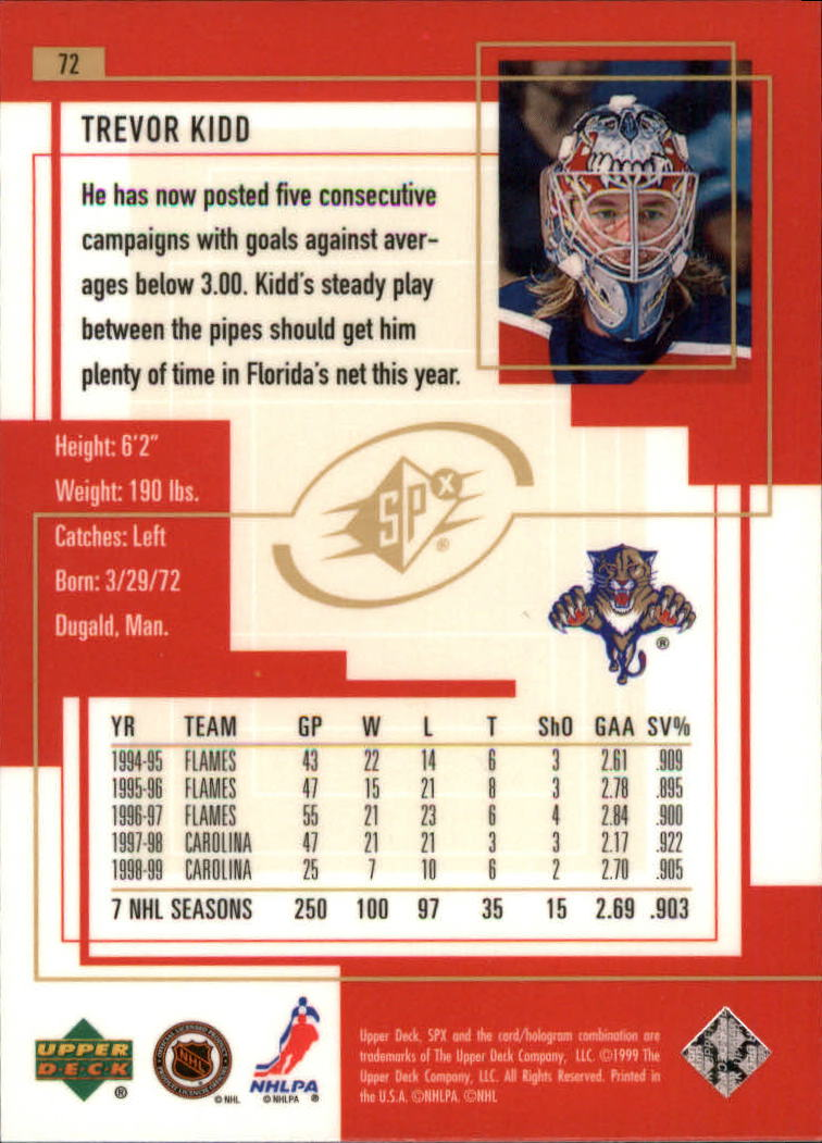 1999-00-SPx-Hockey-Cards-Pick-From-List miniature 109