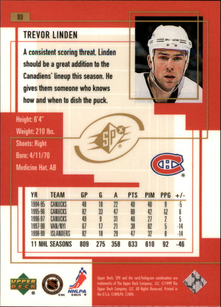 1999-00-SPx-Hockey-Cards-Pick-From-List miniature 115