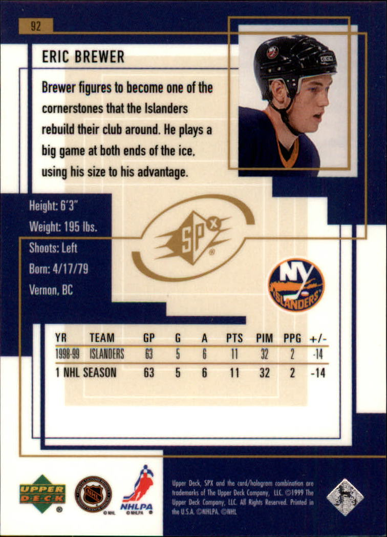 1999-00-SPx-Hockey-Cards-Pick-From-List miniature 133