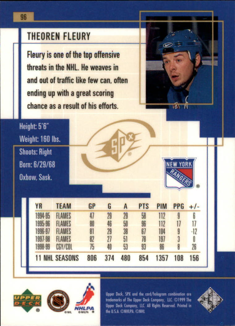 1999-00-SPx-Hockey-Cards-Pick-From-List miniature 141