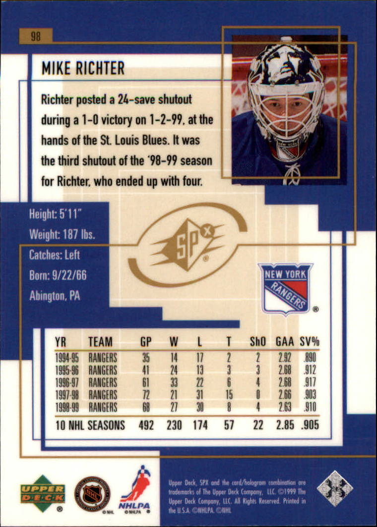 1999-00-SPx-Hockey-Cards-Pick-From-List miniature 145