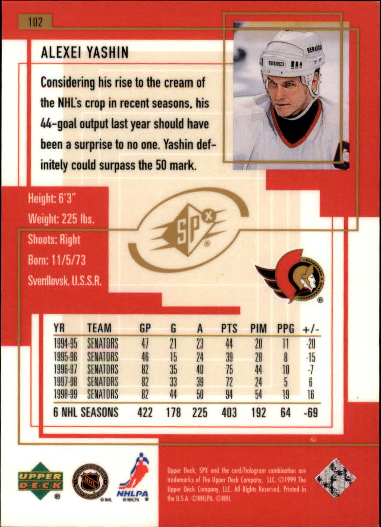 1999-00-SPx-Hockey-Cards-Pick-From-List miniature 153