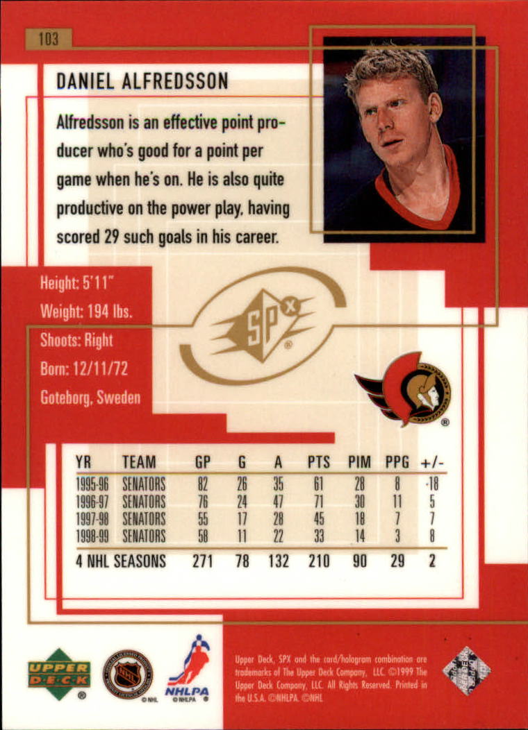 1999-00-SPx-Hockey-Cards-Pick-From-List miniature 155