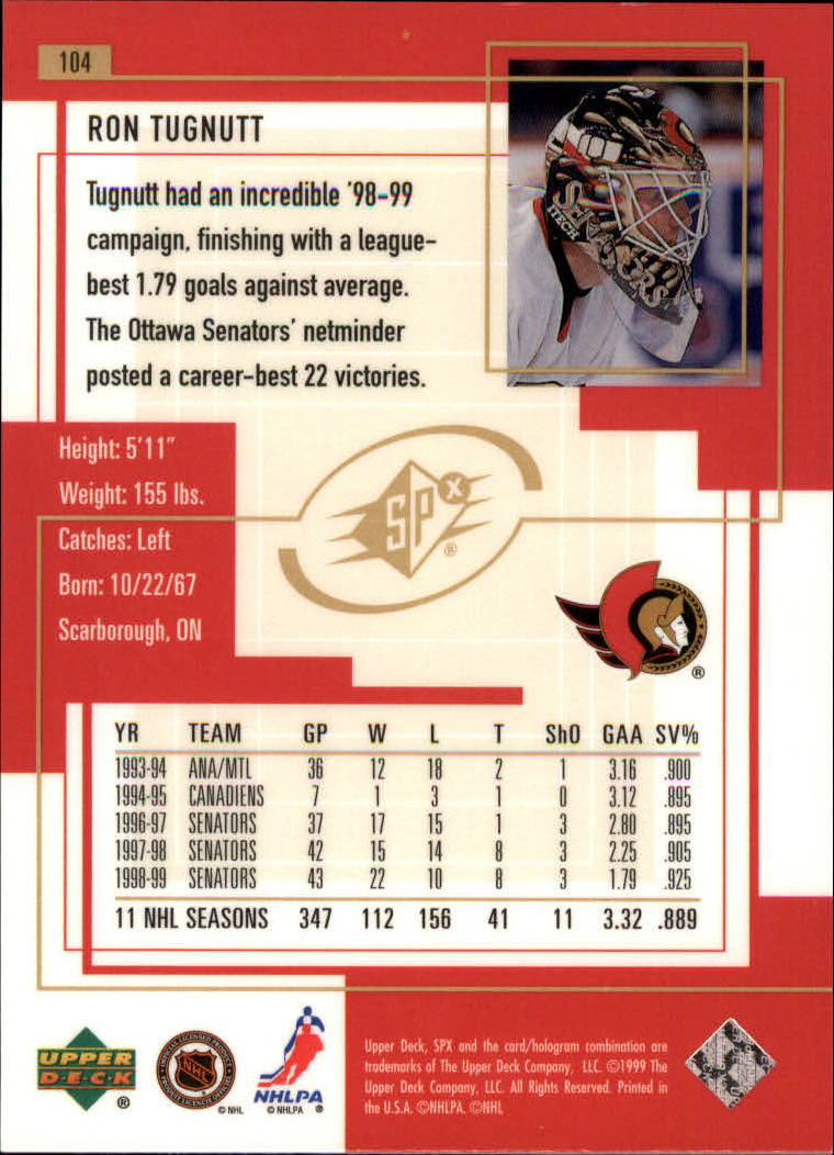 1999-00-SPx-Hockey-Cards-Pick-From-List miniature 157