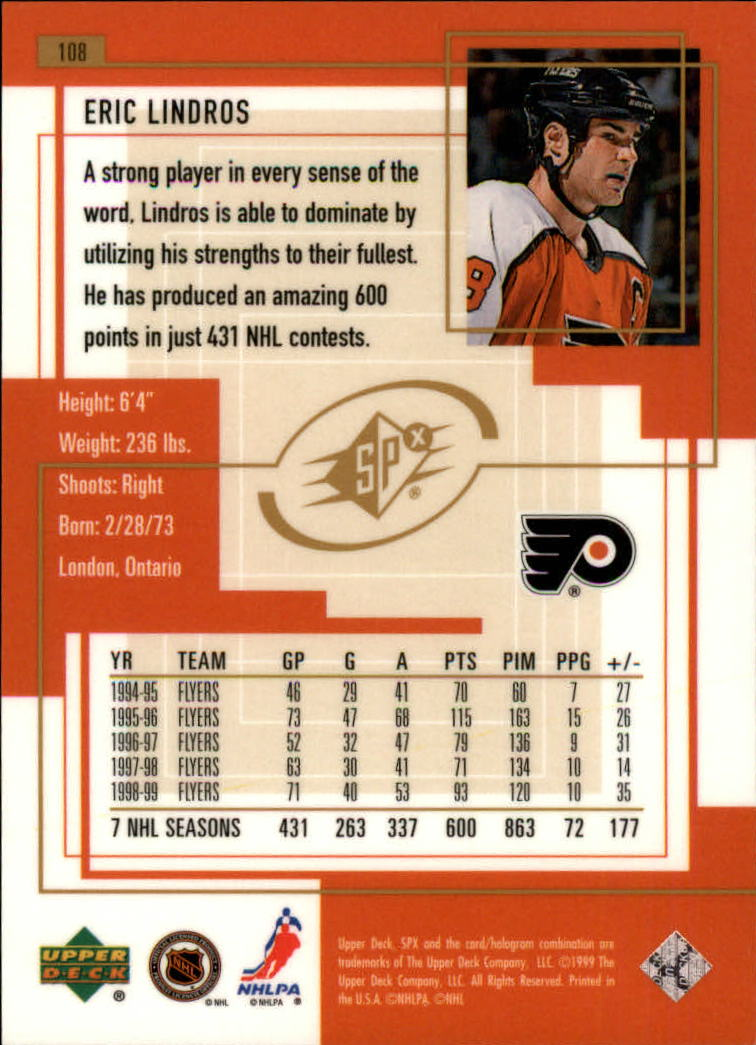 1999-00-SPx-Hockey-Cards-Pick-From-List miniature 159