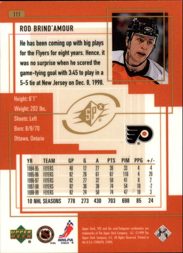 1999-00-SPx-Hockey-Cards-Pick-From-List miniature 163