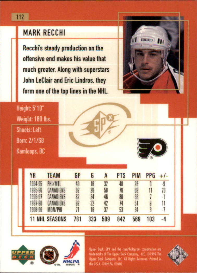 1999-00-SPx-Hockey-Cards-Pick-From-List miniature 165