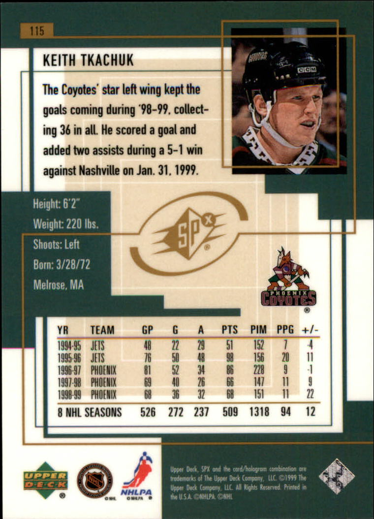 1999-00-SPx-Hockey-Cards-Pick-From-List miniature 171