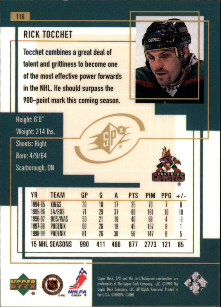 1999-00-SPx-Hockey-Cards-Pick-From-List miniature 173