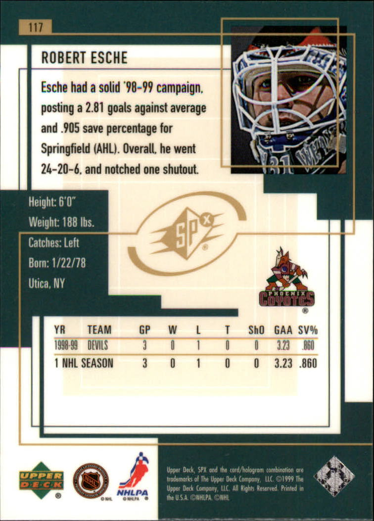 1999-00-SPx-Hockey-Cards-Pick-From-List miniature 175