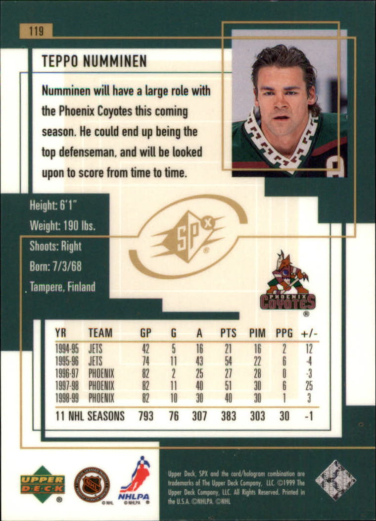 1999-00-SPx-Hockey-Cards-Pick-From-List miniature 177