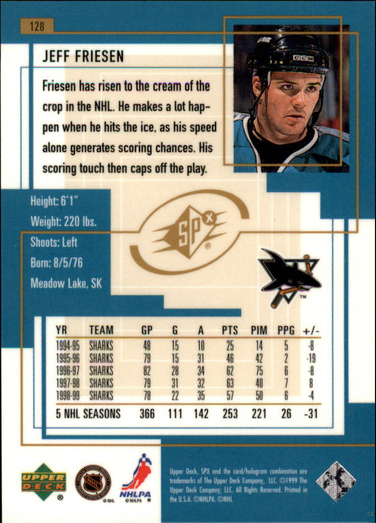 1999-00-SPx-Hockey-Cards-Pick-From-List miniature 187