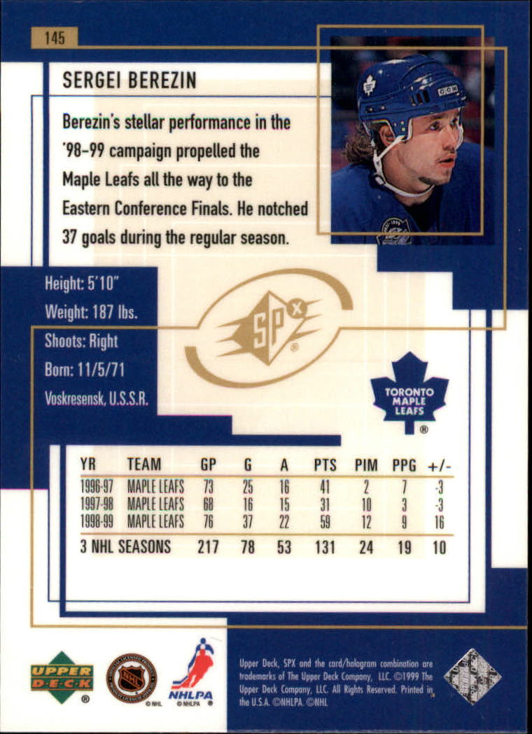 1999-00-SPx-Hockey-Cards-Pick-From-List miniature 215