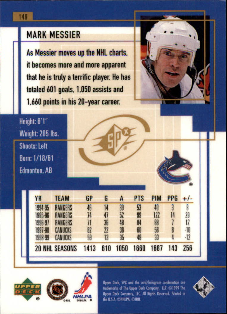 1999-00-SPx-Hockey-Cards-Pick-From-List miniature 223