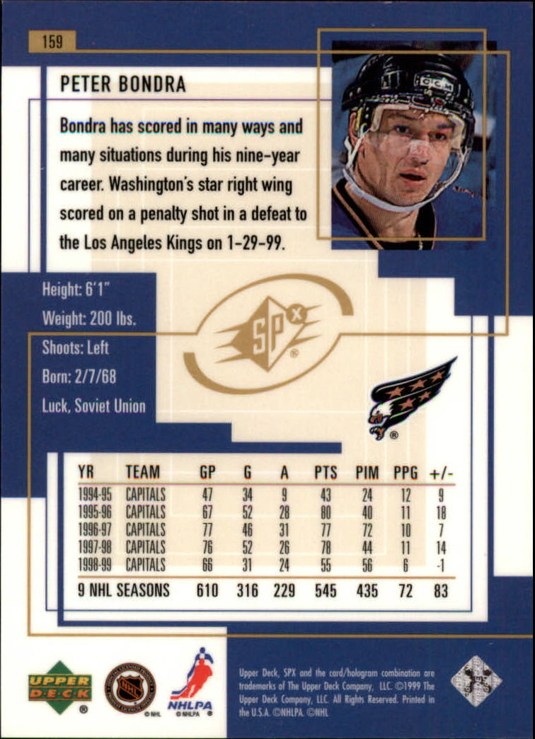 1999-00-SPx-Hockey-Cards-Pick-From-List miniature 237