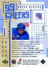 1999-00 SPx 99 Cheers #CH10 Wayne Gretzky back image