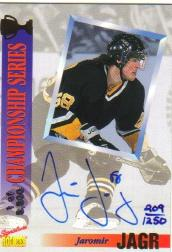 1999-00 Stadium Club Co-Signers #CS5 Jaromir Jagr/Alexei Yashin