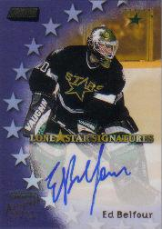 1999-00 Stadium Club Lone Star Signatures #LS8 Ed Belfour
