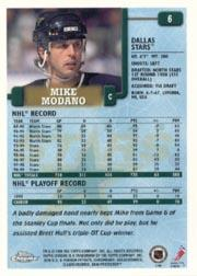 1999-00 Topps Chrome #6 Mike Modano back image
