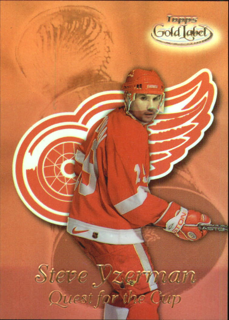 1999-00 Topps Gold Label Quest for the Cup #QC1 Steve Yzerman